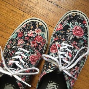 Floral Print Vans